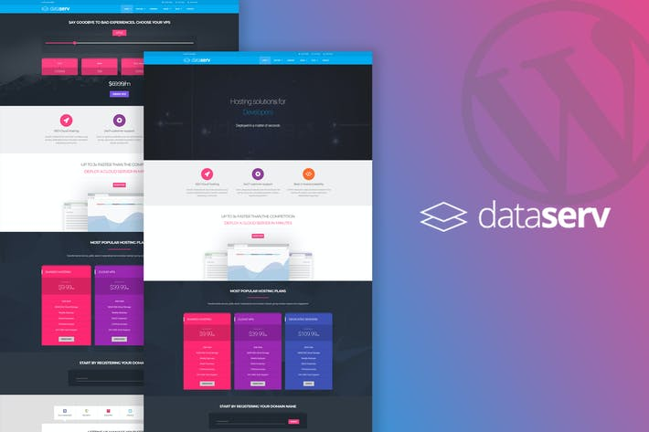 Thumbnail for Dataserv - Professional Hosting WordPress Theme