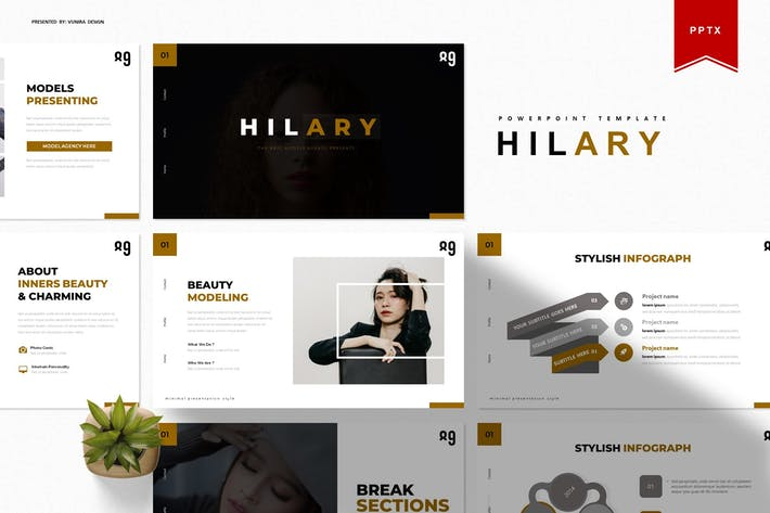 Thumbnail for Хилари | Шаблон Powerpoint