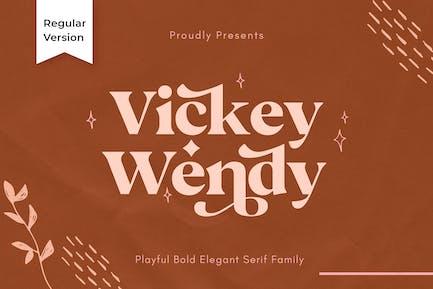 Vicky Regular - Modern Vintage Typeface