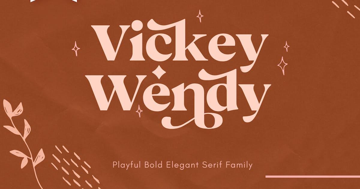 Download Vicky Regular - Modern Vintage Typeface by NEWFLIX