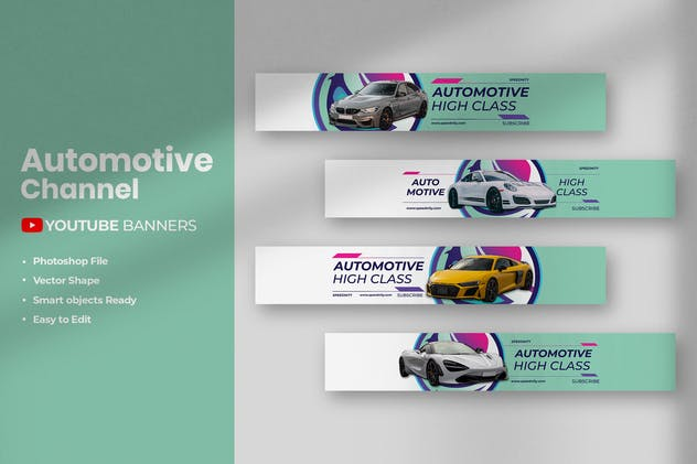 Automotive - Youtube Banners