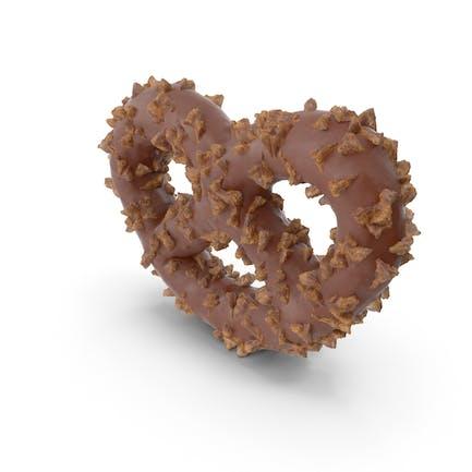 Mini Pretzel Cubierto de Chocolate con Nueces