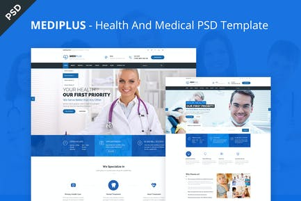 Medi Plus - Health And Medical PSD Template