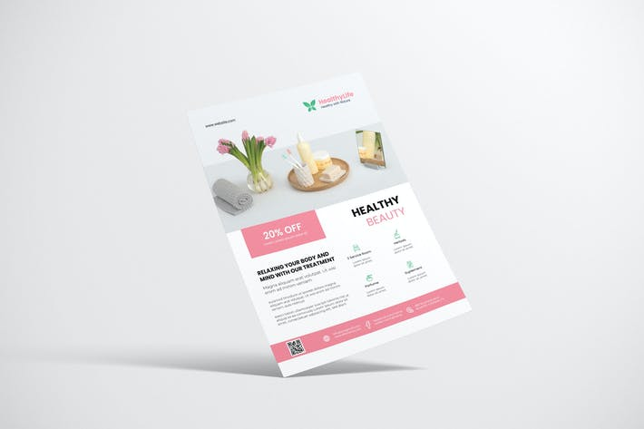 Thumbnail for Clean Wellness Flyer Design
