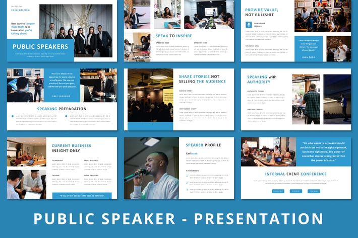 Thumbnail for Public Speaker - Powerpoint Template