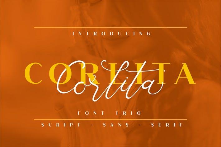 Корлита - Шрифт Трио