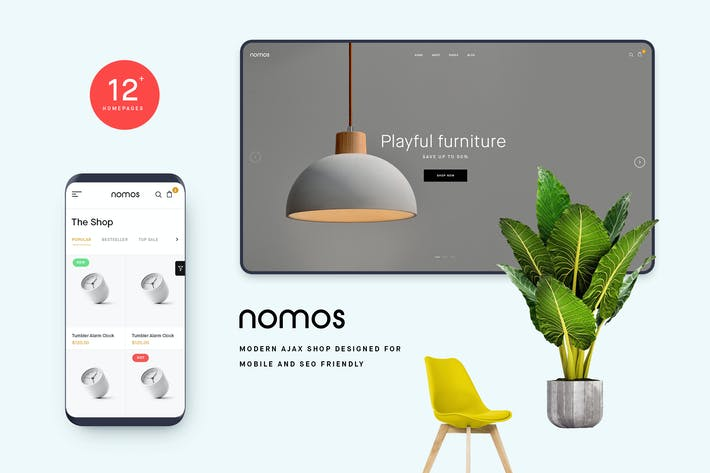 Thumbnail for Nomos - Modern AJAX Shop Designed For Mobile And S