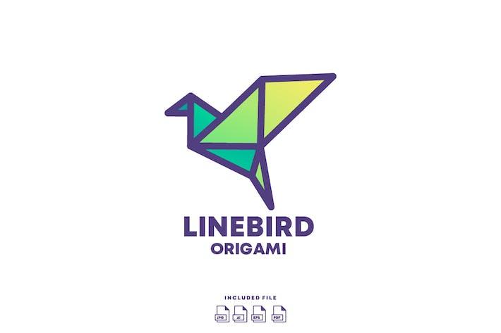 Thumbnail for LineBird Origami Logo Design
