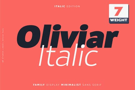 Oliviar Sans Italic Family