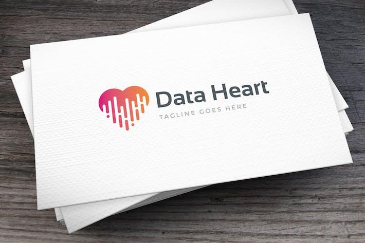Thumbnail for Data Heart Logo Template