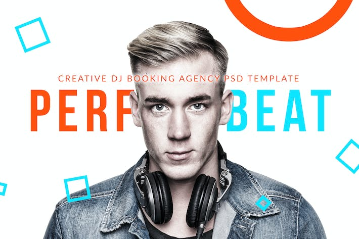 Cover Image For PerfectBeat - DJ Booking Agency PSD Template