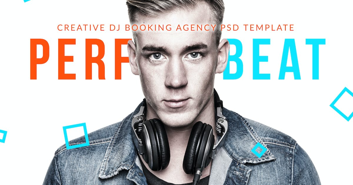 PerfectBeat - DJ Booking Agency PSD Template by vinyljunkie on