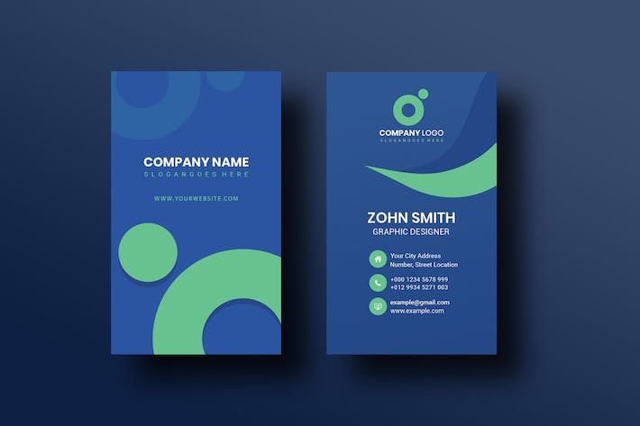 Thumbnail for Corporate Portrait Business Card Template V-2