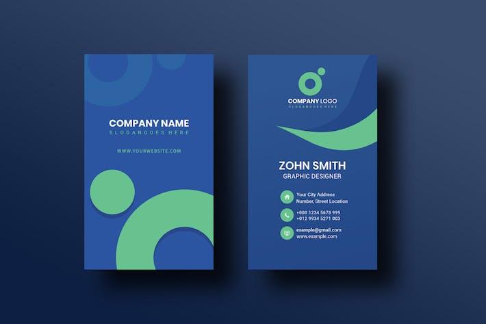 Corporate Portrait Business Card Template V-2