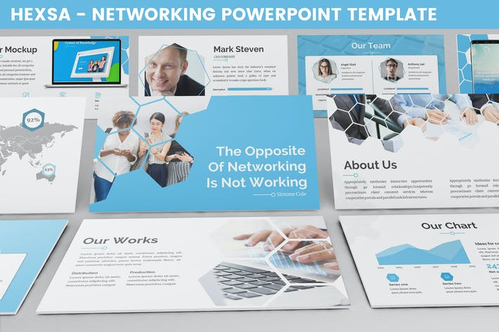 Hexsa - Networking Powerpoint Template