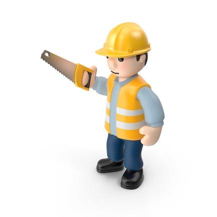 Arbeiter mit Säge