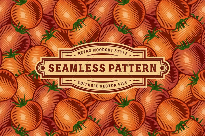 Thumbnail for Seamless Tomato Pattern