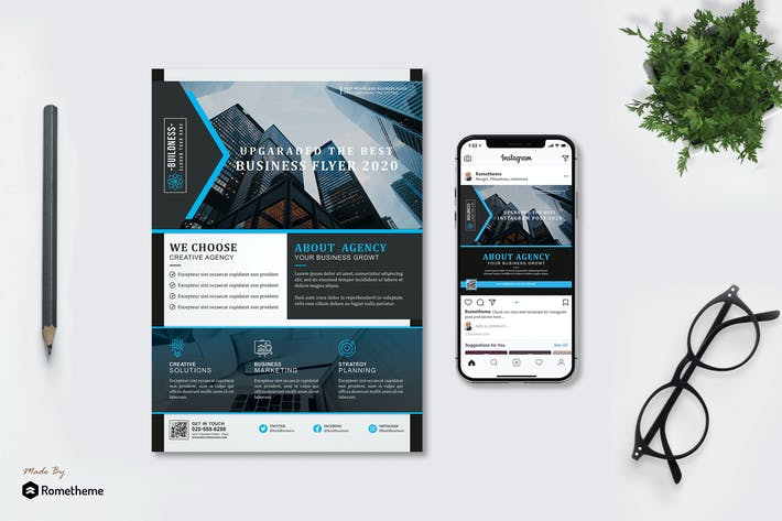Thumbnail for Buildness - Creative Business Flyer & Instagram HR