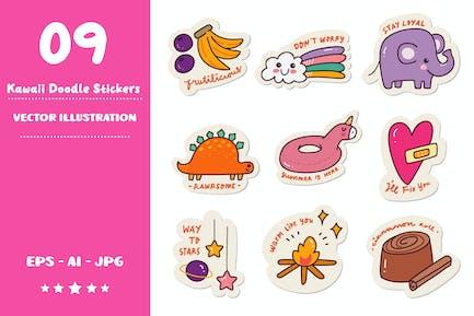 Kawaii Doodle Sticker Set