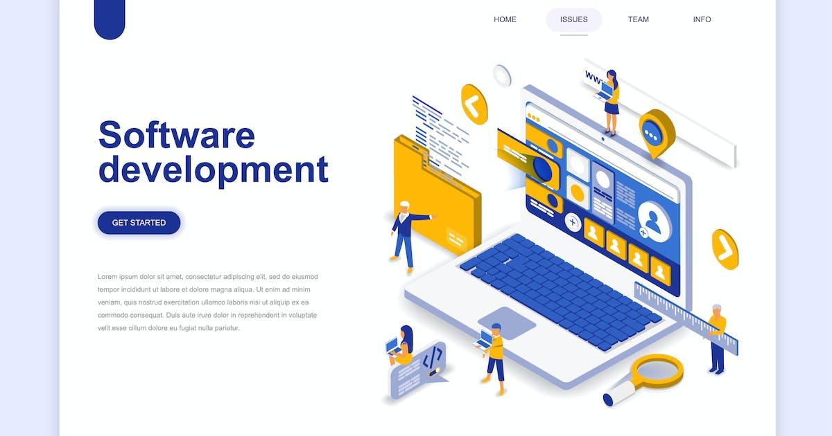 Download Software Development Isometric Landing Page by alexdndz