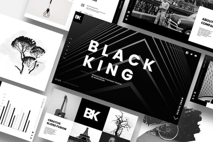 Black King - Minimal Creative Powerpoint Template