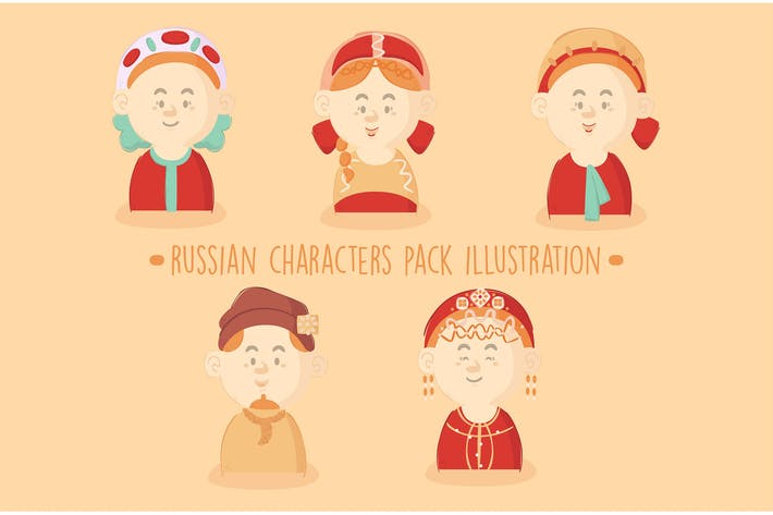 Thumbnail for Russian Characters Pack Illustration