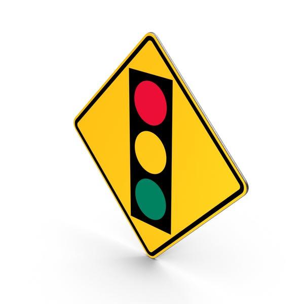 Verkehrssignal Ahead-Zeichen