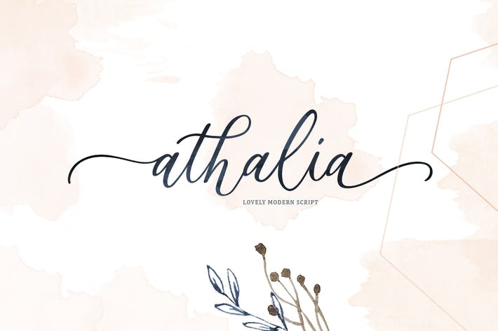 Thumbnail for Athalia - Modern Calligraphy Script