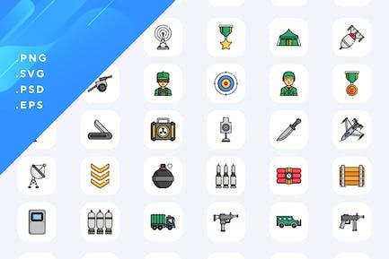 50 militärische Icons