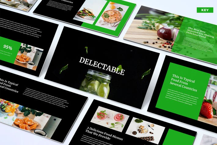 Thumbnail for Delectable - Keynote Template