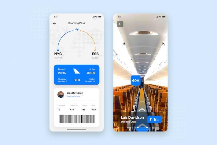 Thumbnail for Flight Ticket Mobile App UI Kit Template