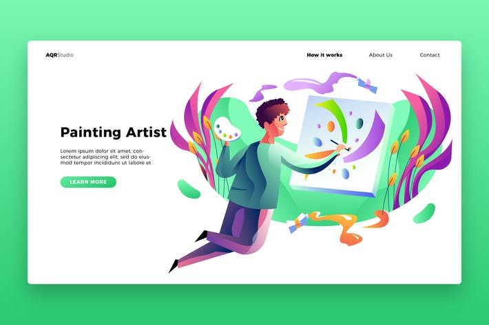 Thumbnail for Paint Artist - Banner & Landing Page