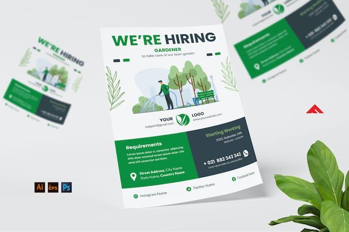Thumbnail for Gardener Job Hiring Flyer Advertisement