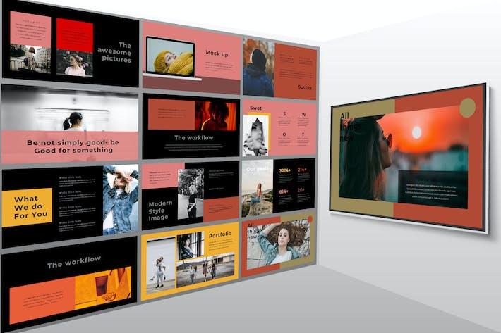 Thumbnail for Sven Dark - Lookbook Powerpoint Template