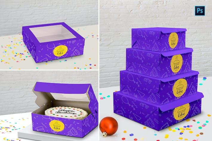 Thumbnail for Cake Box Mockup