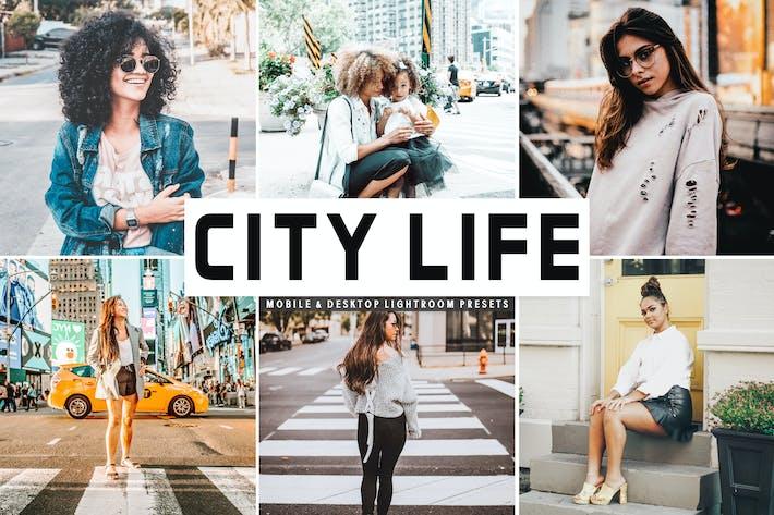 Thumbnail for Ajustes Ajustes preestablecidos de Lightroom para móviles y de escritorio de City Life