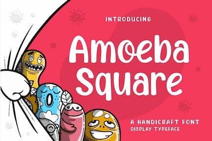 Amoeba Square - Handcraft Display Font