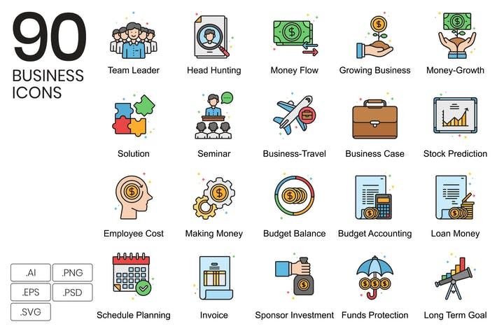 Thumbnail for 90 Business Icons