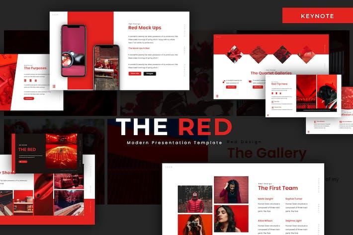 Наш красный Keynote Шаблон