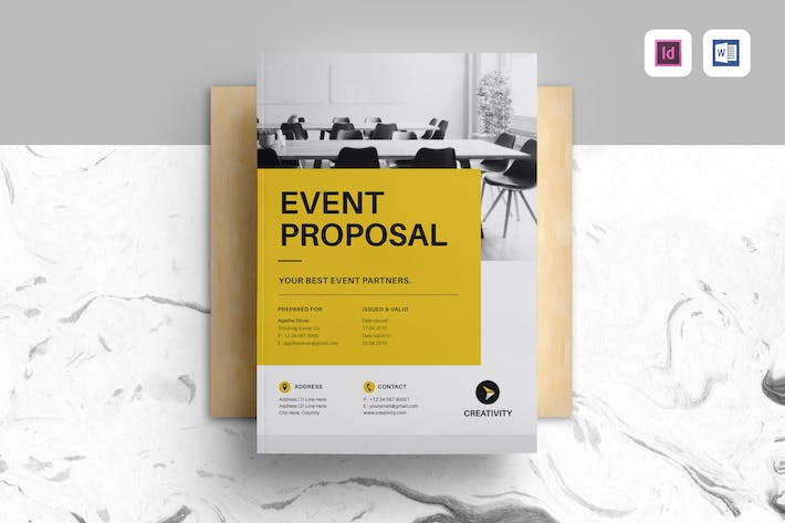10 133 vector professional proposal template graphic templates