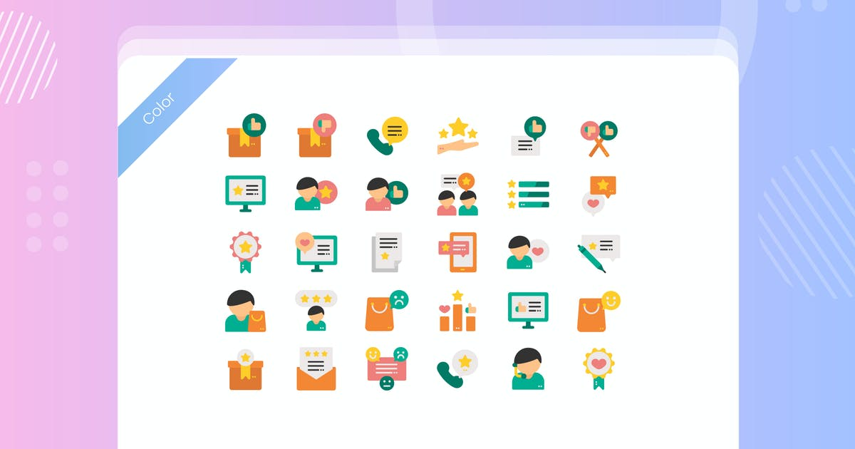 Download Customer Review Icon Pack by vectorclans