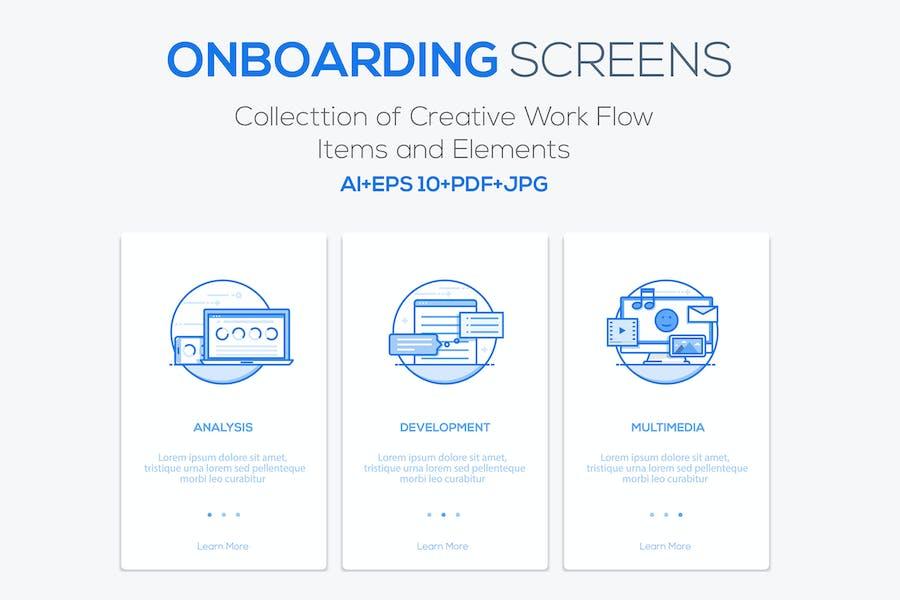 15 Onboarding Screens for App
