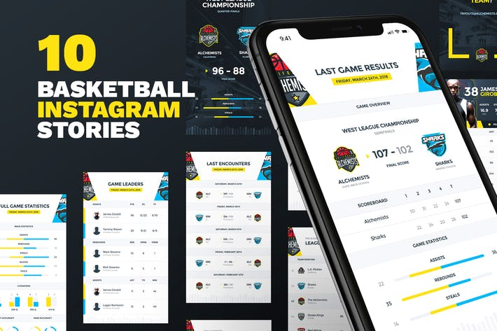 Thumbnail for 10 Basketball Instagram Stories