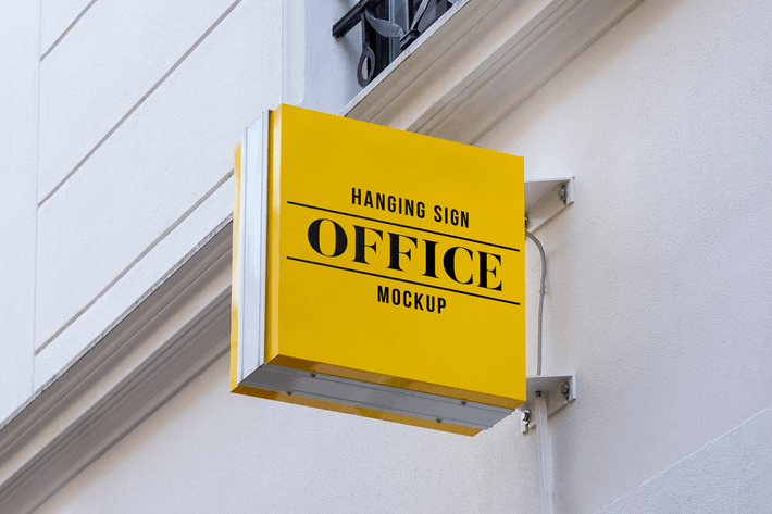 Thumbnail for Outdoor Hanging Logo Sign Mockup #8