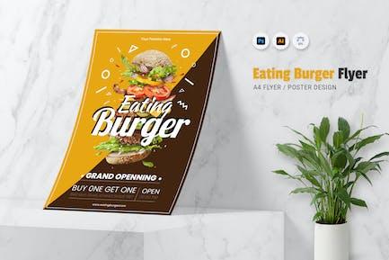 Eating Burger Flyer