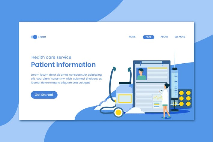 Thumbnail for Medical Service Patient Information Landing Page