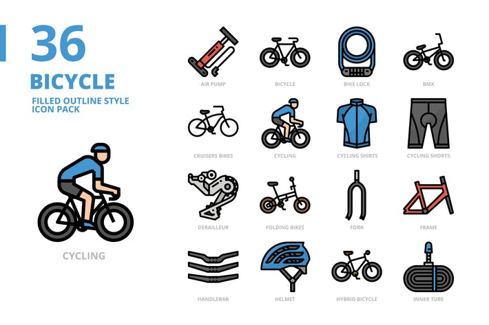 Thumbnail for Bicycle Filled Outline
