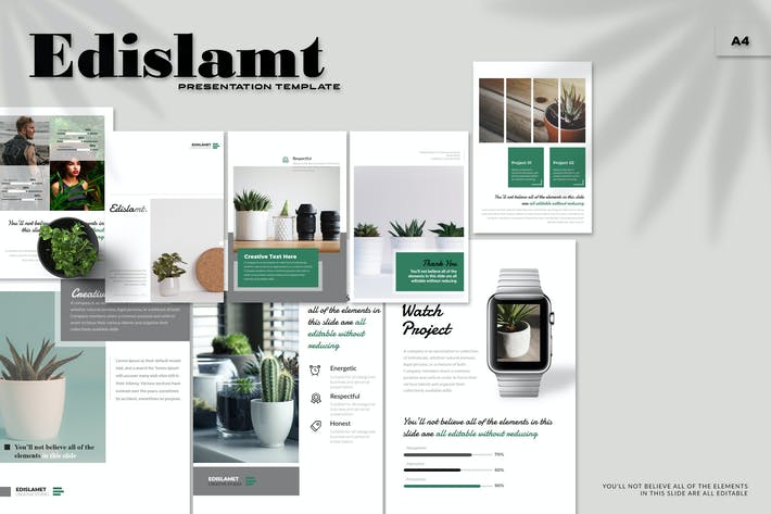 Edislamt - A4 Powerpoint Template