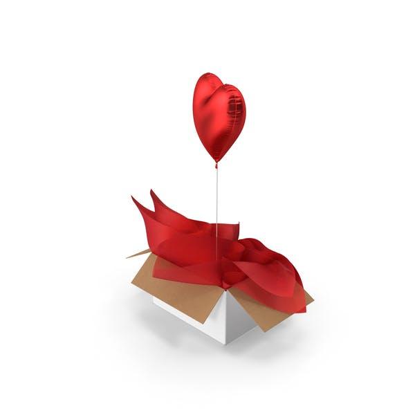 Red Heart Balloon Surprise Box