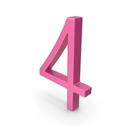 Number 4 Pink